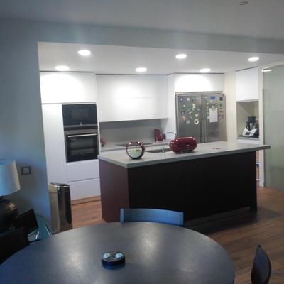 Unificación salón cocina