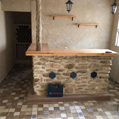 Construcción de salón comedor en casa rural