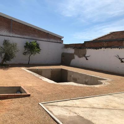 Construcción de vaso de piscina en casa rural