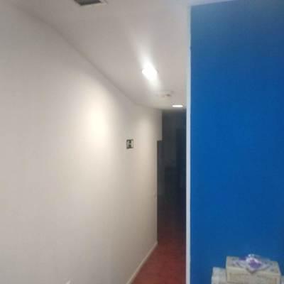 Pintura de un de un departamento del local en Azul electrico