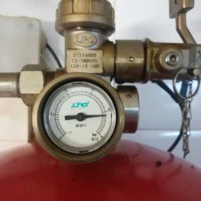 Extinción automática por gases