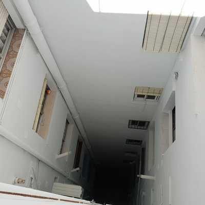Cambio de bajantes, tratamiento de fissura y desconchados ,pintura de patio de luces, impermeabilización