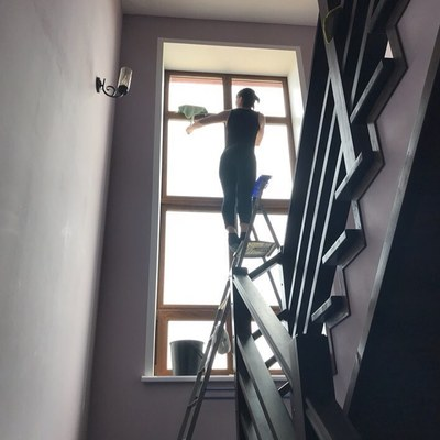 Limpieza de escaleras.