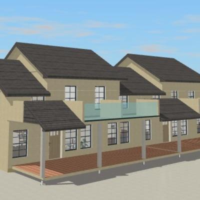 Proyecto de adosados con el sistema constructivo de casas precio justo
