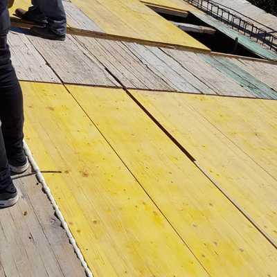 Construcción de tejado nuevo