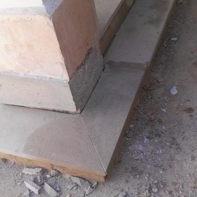 Escalones de mármol