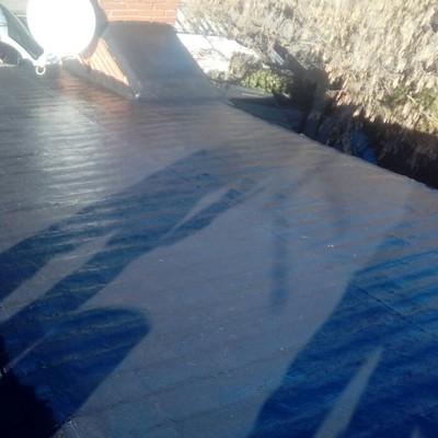 Tejado impermeabilizado con fibra de vidrio
