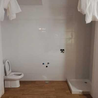 Aseo finalizado a falta del lavabo