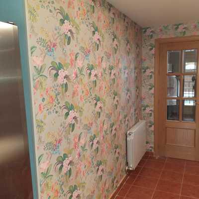 tapizado de paredes con papel