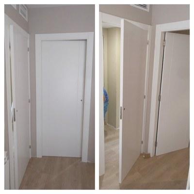 Instalación suelo laminado AC5 FINfloor y puertas lacadas