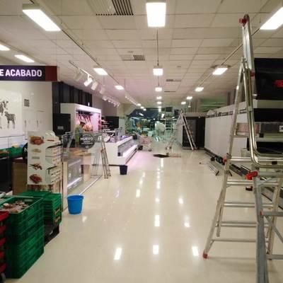 Resultado de las instalaciones del alumbrado LED en mercadona Murcia Mazarron