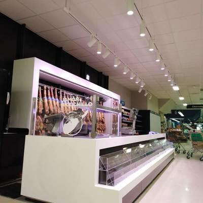 Resultado de las instalaciones del alumbrado LED en mercadona Murcia Mazarron 3