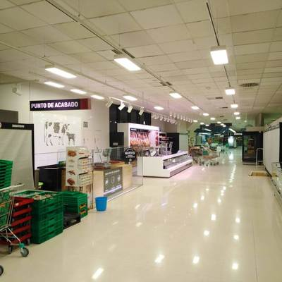Resultado de las instalaciones del alumbrado LED en mercadona Murcia Mazarron 4