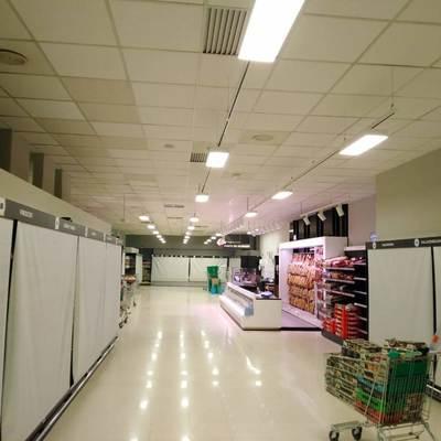 Resultado de las instalaciones del alumbrado LED en mercadona Murcia Mazarron 6