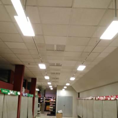 Resultado de las instalaciones del alumbrado LED en mercadona Murcia Mazarron 8