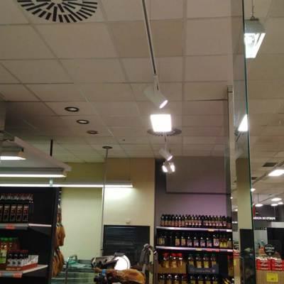Resultado de las instalaciones del alumbrado LED en mercadona Murcia Mazarron 9