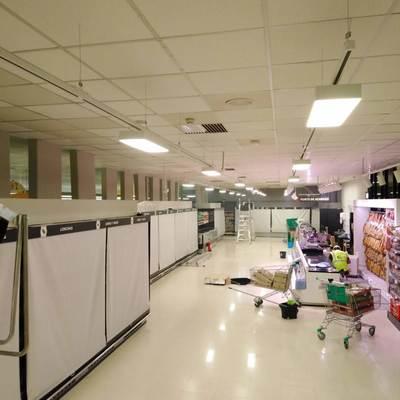 Resultado de las instalaciones del alumbrado LED en mercadona Murcia Mazarron 11