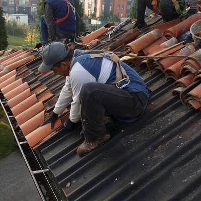 Obrero en cubierta