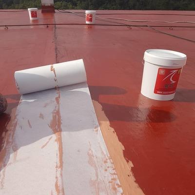 Membrana de poliuretano 100% armada con geotextil