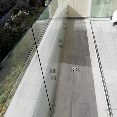 Barandilla de cristal para terraza