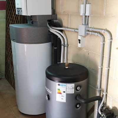 bomba de calor + acumulador de ACS