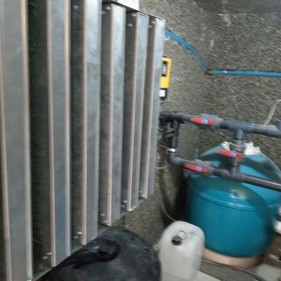 Silenciador cuarto máquinas piscina