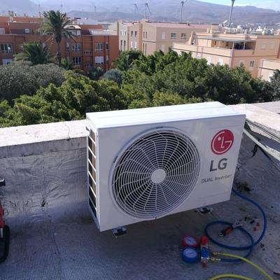 Montaje de split LG