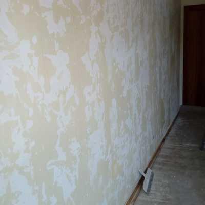 Reparación de paredes de la vivienda al quitar gotelet