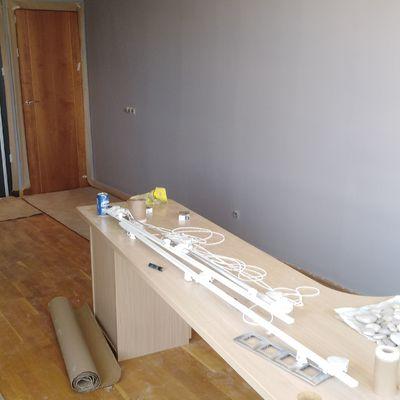 El después de alisar las paredes