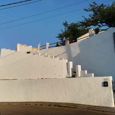 Muro con bloque de hormigón