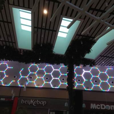 Resultado de Instalación de LED's en galería del cc Luz del Tajo (Toledo)