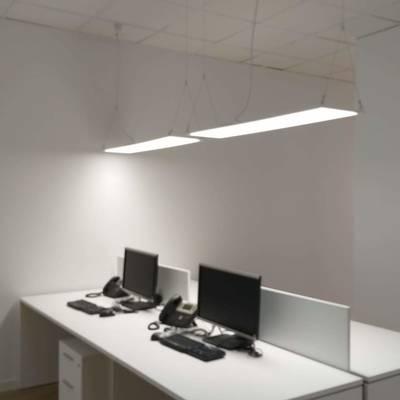 iluminacion con paneles suspendidios