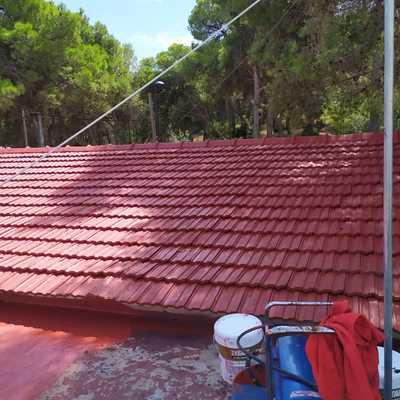 Terminados de tejado antiguo .