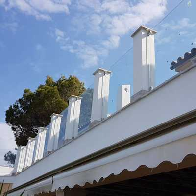 Barandillas en terraza