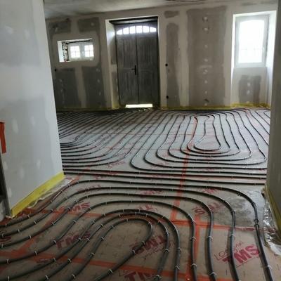 Reforma salon:suelo radiante, pladur, autonivelante, pintura