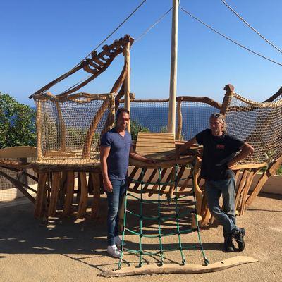Playground en restaurante Pura Vida en Cala Figuera
