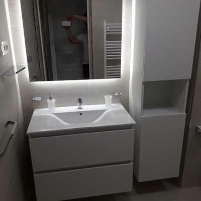 Mueble de baño a medida y colunma diseño