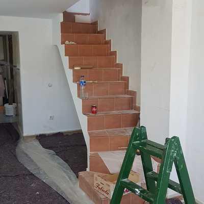 Terminación de pintura en paredes
