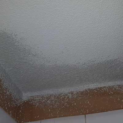 Repaso de gotele en techo de baño