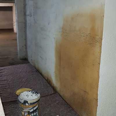 Reparación en pared de garaje