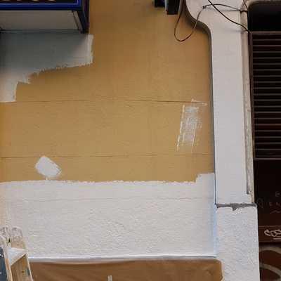 Preparación fachada.