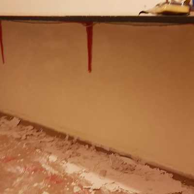 Terminación pintura en pared