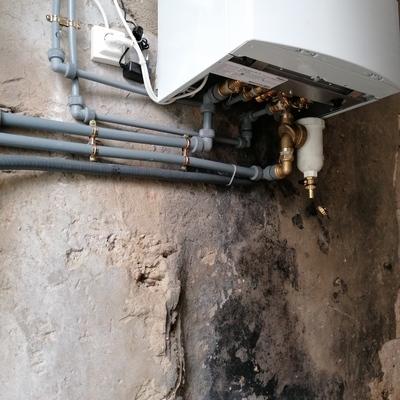Instalacion caldera Vaillant con filtro sedimentos