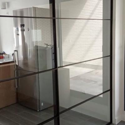 Puerta vidrio corredera línea industrial