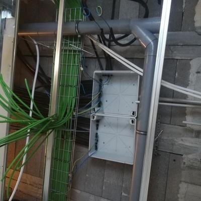 Colocacion de caja general y mangueras de lineas
