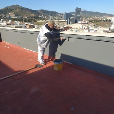 Pintura revestimiento después de la reparacion