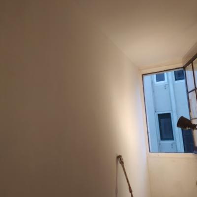 Fondeo de paredes después del alisado