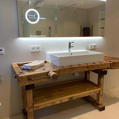 Mueble lavabo rústico