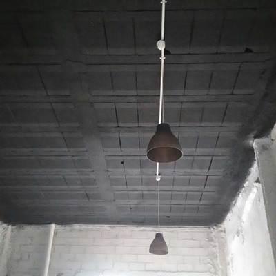 Instalación iluminación con pintado.