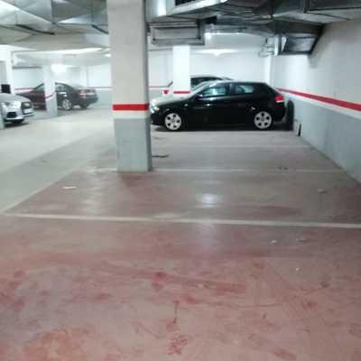 antes de limpieza de parking